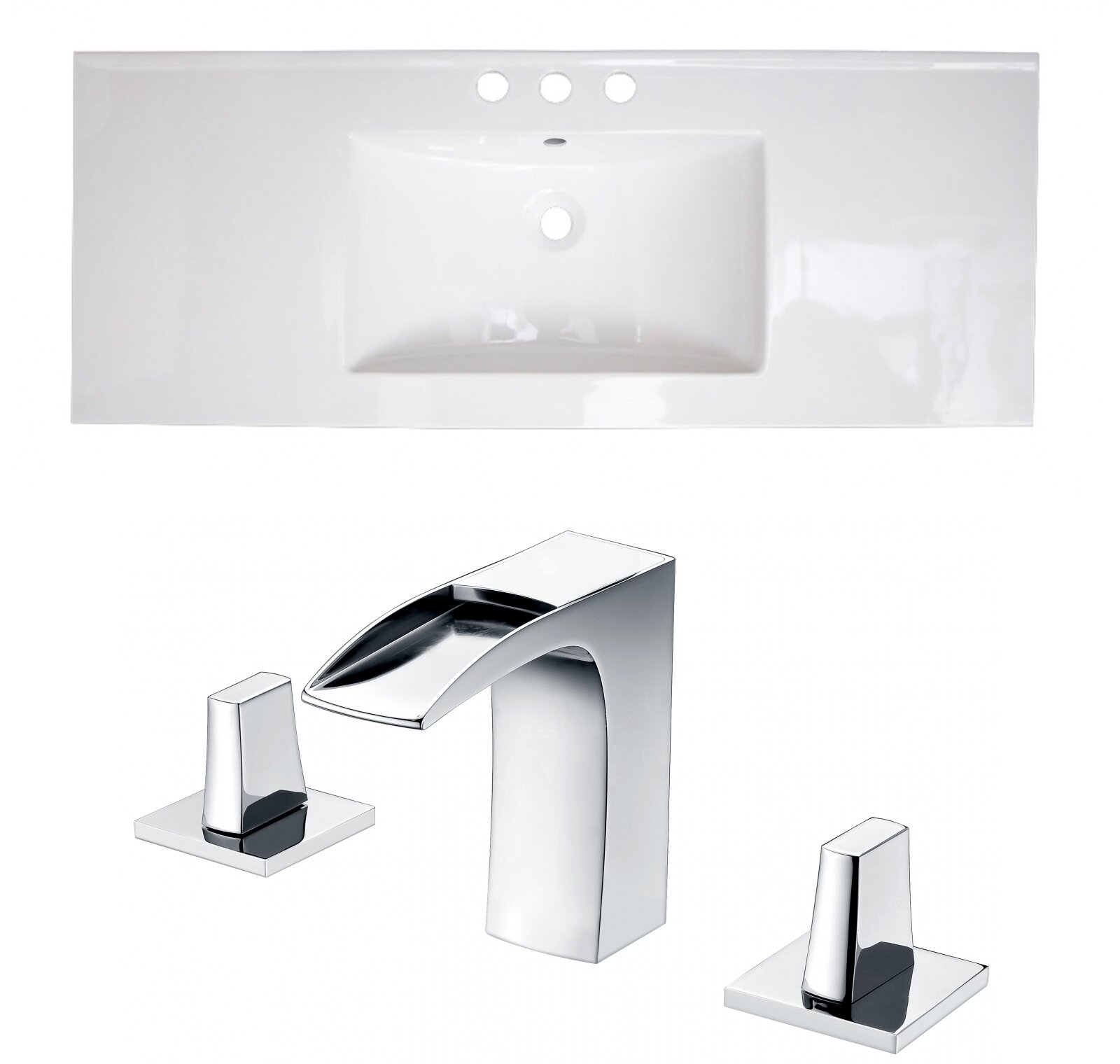 Wrought Studio Kemmel Ceramic 48 Single Bathroom Vanity Top Wayfair