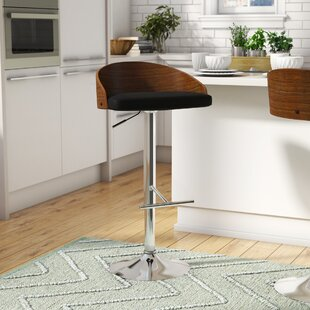 Montross Adjustable Height Swivel Bar Stool by Wade Logan
