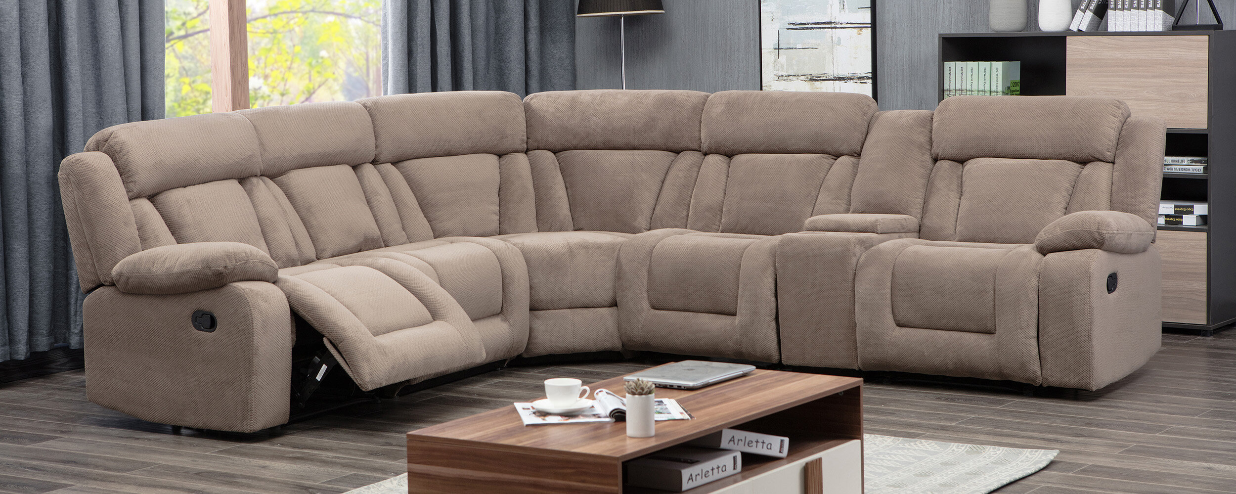 Phenomenal Herald Square Symmetrical Reclining Sectional Gmtry Best Dining Table And Chair Ideas Images Gmtryco