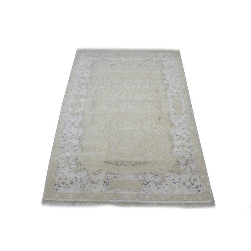 Adminrugs Oriental Hand Knotted Wool Ivory Area Rug Wayfair