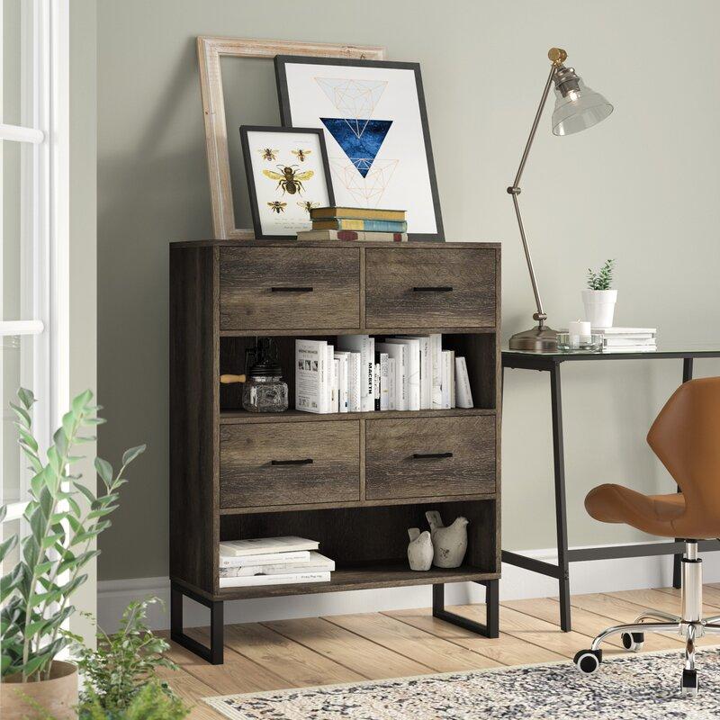 Laurel Foundry Modern Farmhouse Salgado Standard Bookcase
