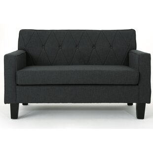 Peiffer Button Stitch Loveseat by Ebern Designs