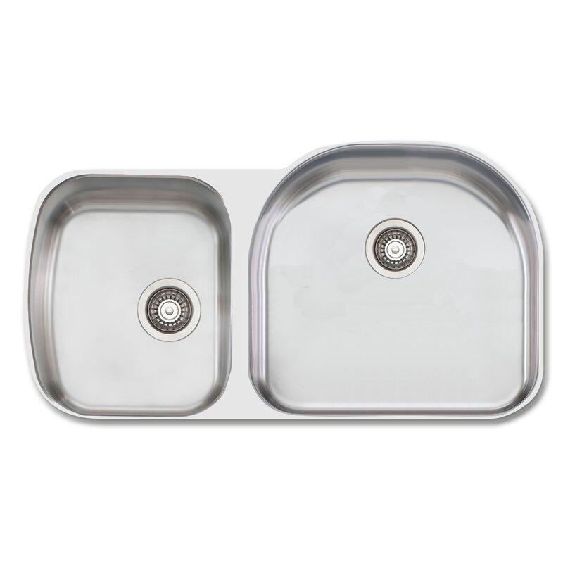 Oliverisydney 38 13 L X 20 88 W Double Bowl Kitchen Sink