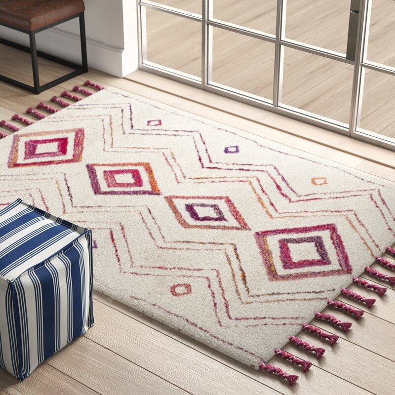 Mistana Lockheart Hand Tufted Wool Beige Red Area Rug Reviews Wayfair