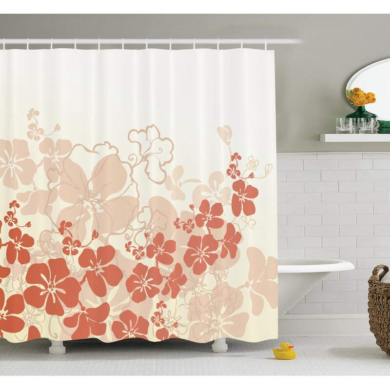 Floral Hawaii Tropical Shower Curtain Set