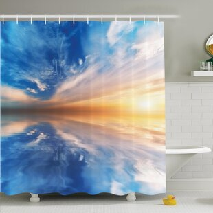 Sky Reflections Sunset Shower Curtain Set