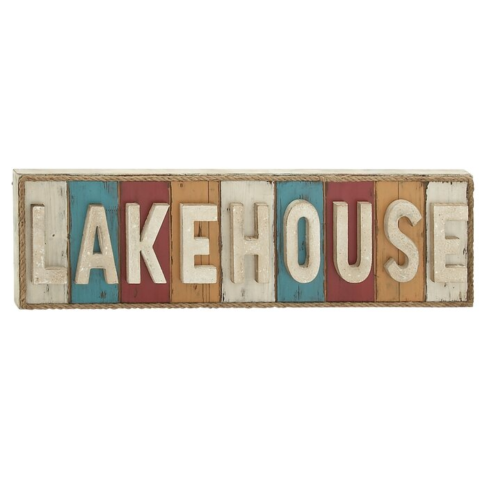 Lake House Wood Written Wall Décor