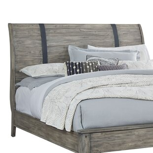 Reviews Burleigh Gray Sleigh Headboard by Loon Peak