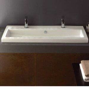 Series 40 Ceramic Rectangular Drop-In Bathroom Sink