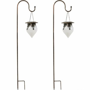 Charlton Home Starkville Rain Drop 2 Piece Landscape Hanging Lantern Set (Set of 2)