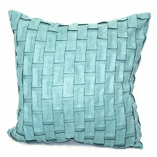 Edie Woven Feather Filled Indoor/Outdoor Cotton Throw Pillow