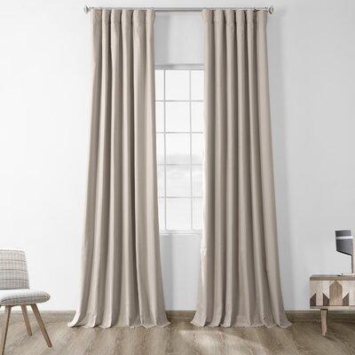 Bryce 100 Cotton Solid Blackout Thermal Rod Pocket Single Curtain Panel Eider Ivoryâ Size Per Panel 50 W X 108 L Curtain Color Hazelwood Beige Sportspyder