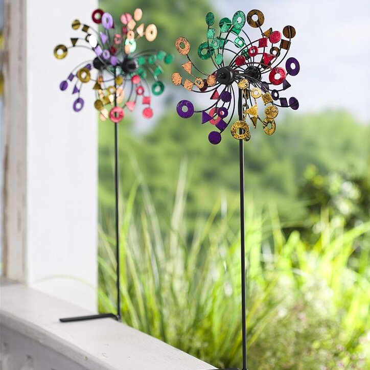 Deck-Mounted Metal Wind Spinner Stakes