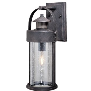 Gracie Oaks Ziegler Outdoor Wall Lantern with Motion Sensor