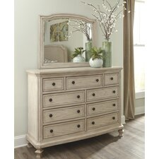 Glane 9 Drawer Dresser with Mirror by One Allium Way