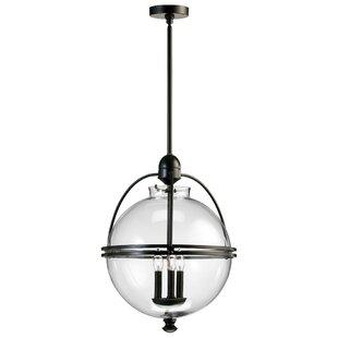 Gracie Oaks Sammons Ornamental 3-Light Gl..