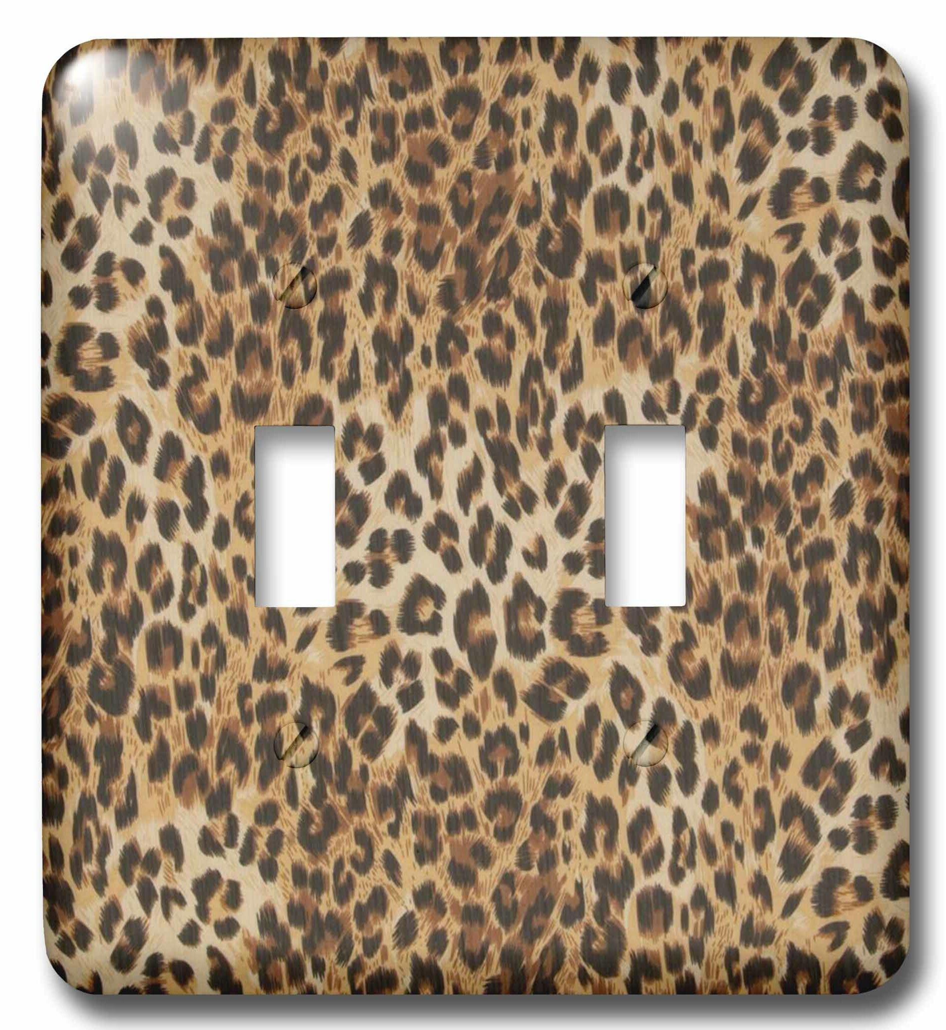 3drose Cheetah Print 2 Gang Toggle Light Switch Wall Plate Wayfair
