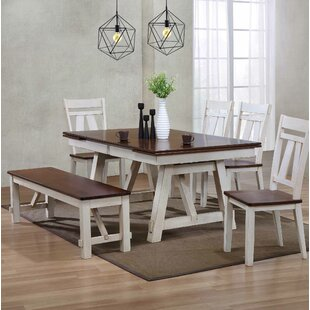 Keturah 6 Piece Extendable Dining Set by August Grove No Copoun