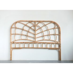 Arinda Rattan Open-Frame Headboard by Bungalow Rose