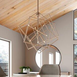 Modern Contemporary Gold Geometric Light Fixture Allmodern