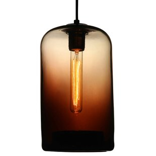 Viz Glass 1-Light Cylinder..