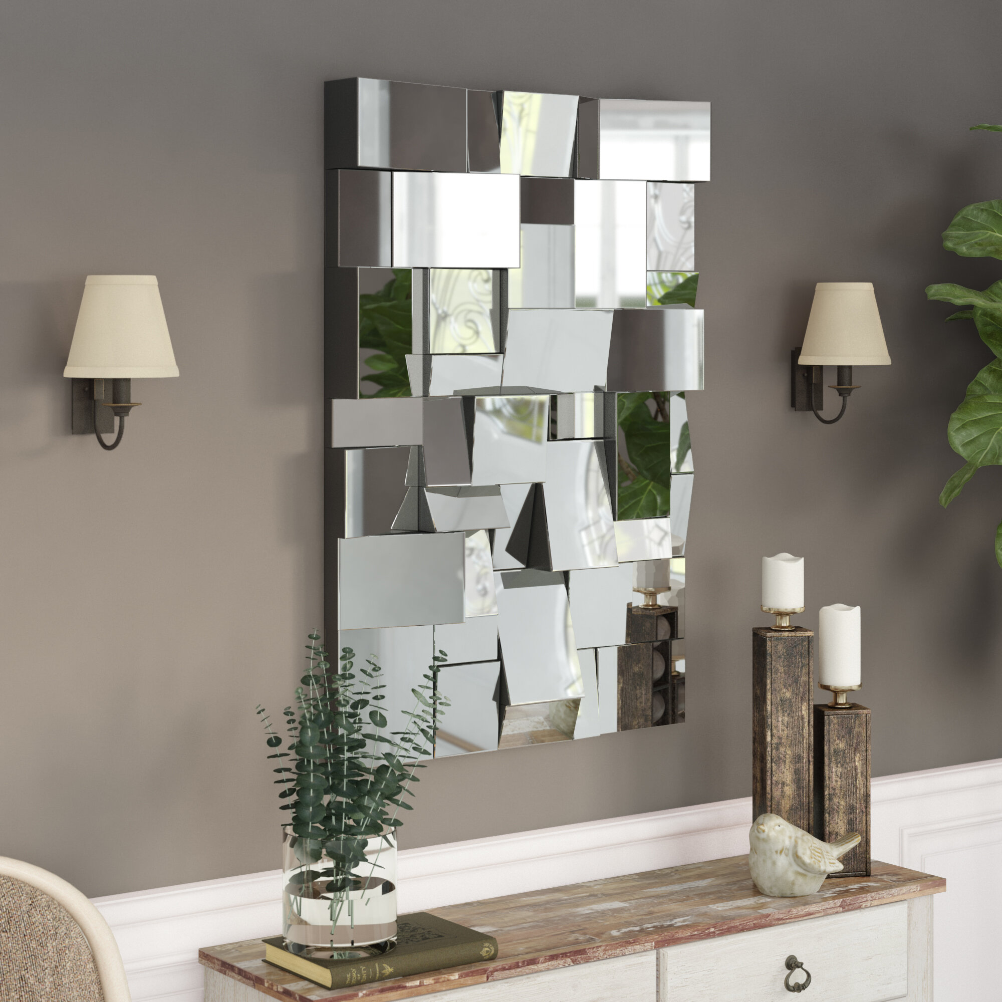 Wade Logan Pennsburg Rectangle Modern And Contemporary Beveled Accent Wall Mirror Reviews Wayfair