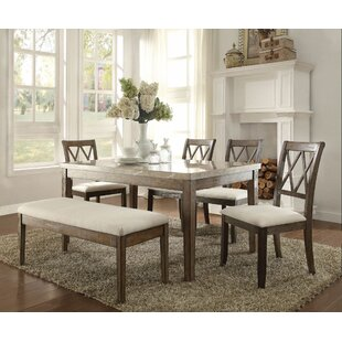 Demoss 6 Pieces Dining Set