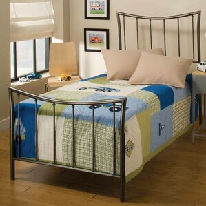 Baptist Metal Frame Panel Bed by Alcott Hill