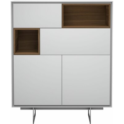 Comm Office Vasilisa Highboard China Cabinet Color: White Matte