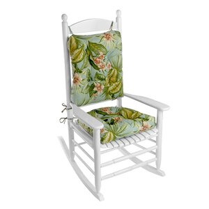 Outdoor 2 Piece Porch Rocking Chair Cushion Set