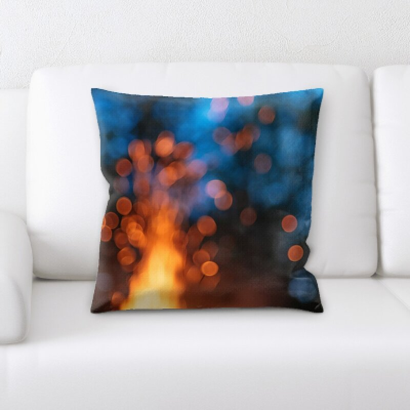 East Urban Home Blurred Out Throw Pillow