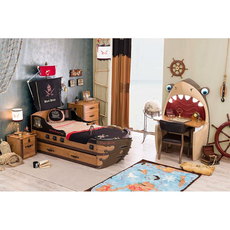 Cilek Black Pirate Captain Bed With Trundle Wayfair