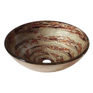 Bargain Glass Circular Vessel Bathroom Sink By Avanity