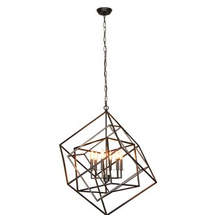 Bancroft 6-Light Geometric Chandelier by Wrought Studio