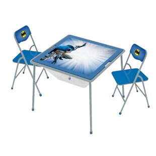 Batman Kids 3 Piece  Arts and Crafts Table and Chair Set by O'Kids Inc.