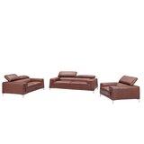 Tipton Modern Saddle 3 Piece Leather Living Room Set by Brayden Studio®