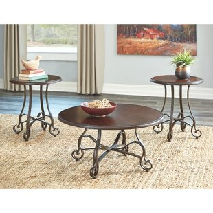 Kempner 3 Piece Coffee Table Set by Fleur De Lis Living
