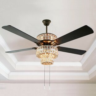 Ceiling fan with crystal light wayfair search results for ceiling fan with crystal light aloadofball Choice Image