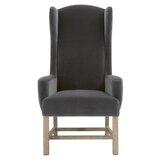 Mallett Cotton Upholstered Arm Chair in Dark Dove by Red Barrel Studio®
