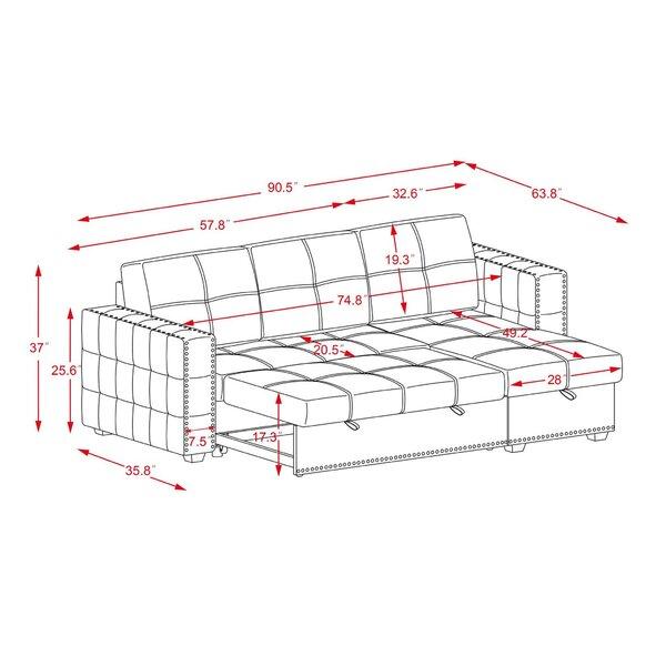 "Scorpio 90.5"" Wide Reversible Sofa & Chaise"