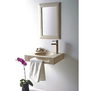 Shop for Rome Stone 24 Wall Mount Bathroom Sink By MTD Vanities
