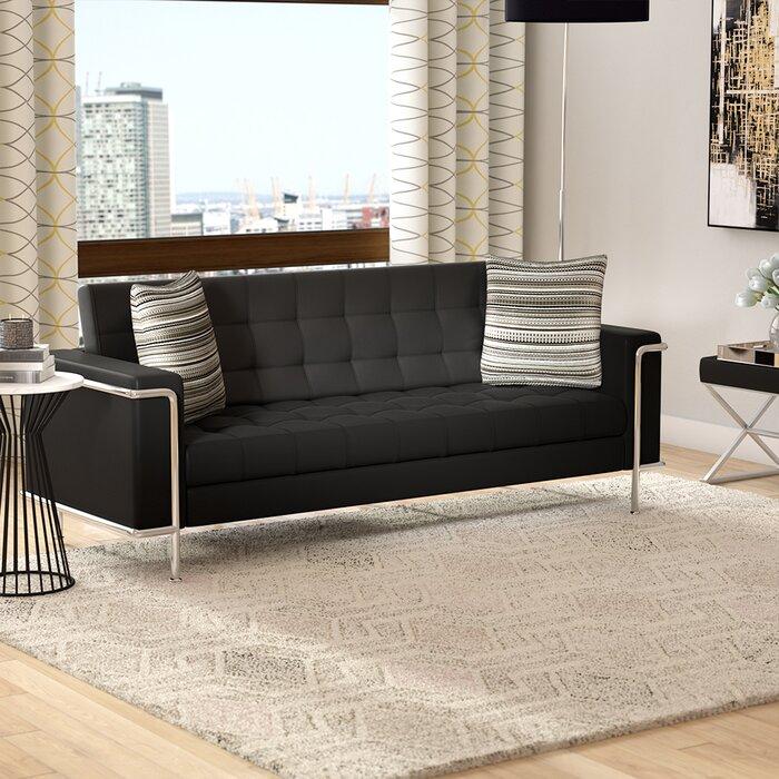 Myron Contemporary Leather Sofa