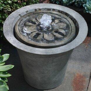 Campania International Concrete Flora Garden Terrace Fountain