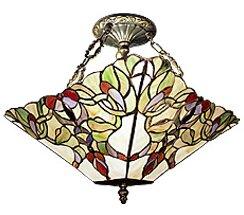Art Nouveau 2-Light Semi Flush Mount by JB Hirsch Home Decor
