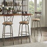 Deserae Swivel Adjustable Height Bar Stool (Set of 3) by Brayden Studio®