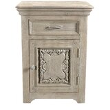Patchway Carved 1 Drawer 1 Door Nightstand by One Allium Way®