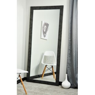 Best Reviews Clouded Gunmetal Leaning Wall Mirror By Brandt Works LLC