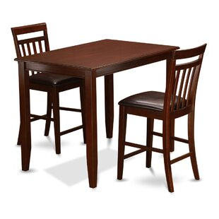 Buckland 3 Piece Counter Height Dining Set East West Furniture