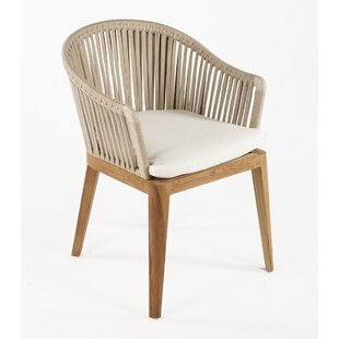 Almere Teak Patio Dining Chair with Cushion by dCOR design