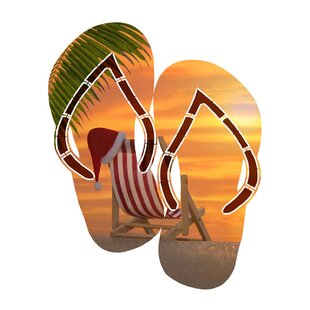 6777a6c13  Sunset Lounge Flip Flop  Graphic Art Print on Metal